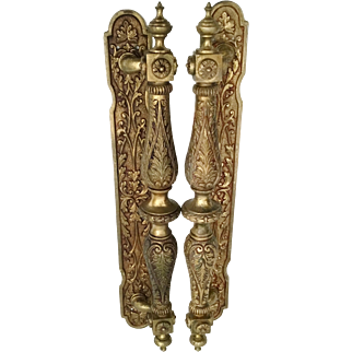 "Exquisite 17"" Bronze Ornate Door Handles ~  A DIVINE  Pair ~  Create a Spectacular  Entrance With These Door Handle Pulls"