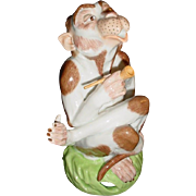 Sassy Dresden Monkey Smoking Pipe ~  So Adorable!  Stamped ~ This Monkey has an Attitude that I Love!