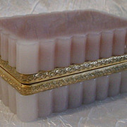 Magnificent French Pink Opaline Hinged Box