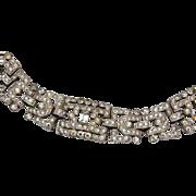 KTF Trifari Art Deco Rhinestone Bracelet