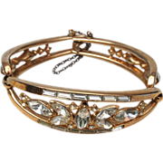 Crown Trifari Patent Pending Hinged Bracelet  Alfred Philippe 1952