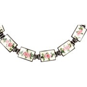 Sterling and Guilloche Enamel Bracelet - Gorgeous!