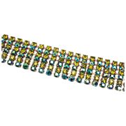 Shades of Green Rhinestone Bracelet