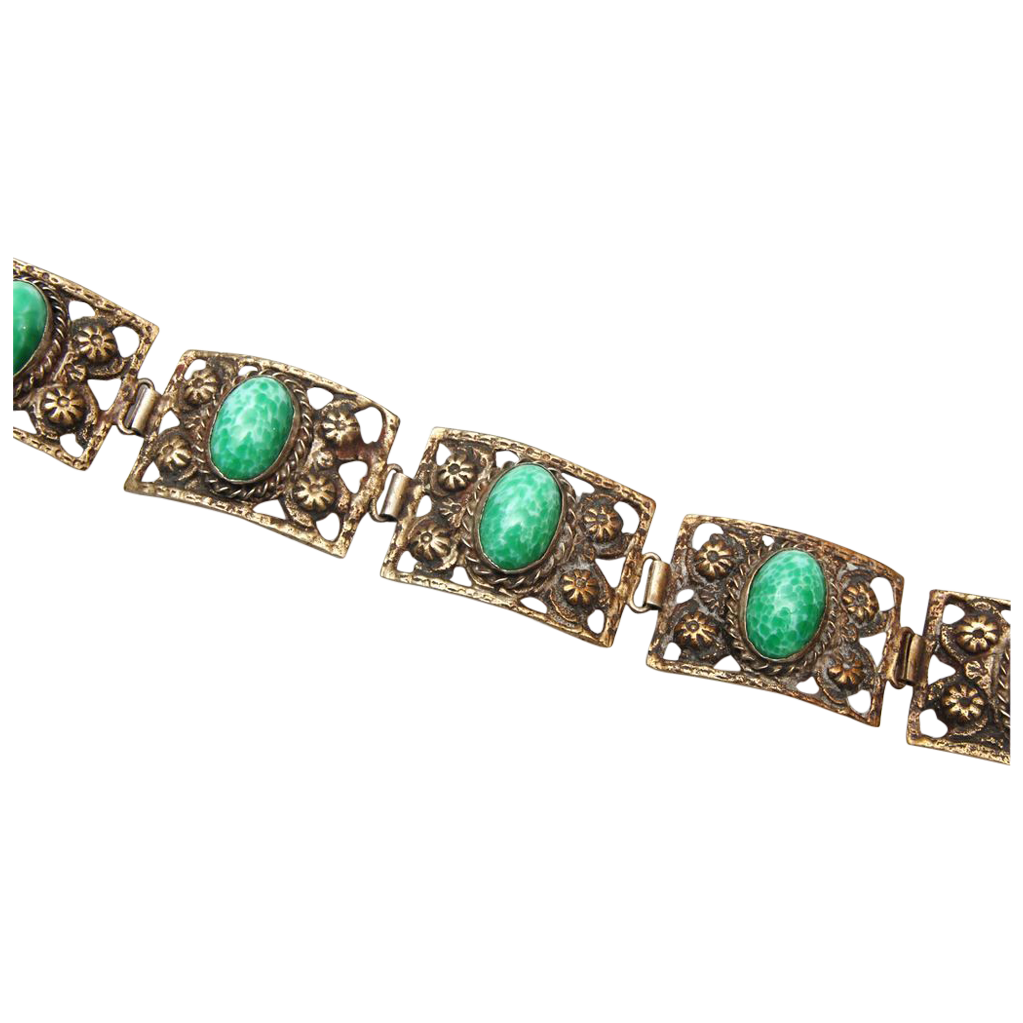 Peking Glass 5 Link Bracelet