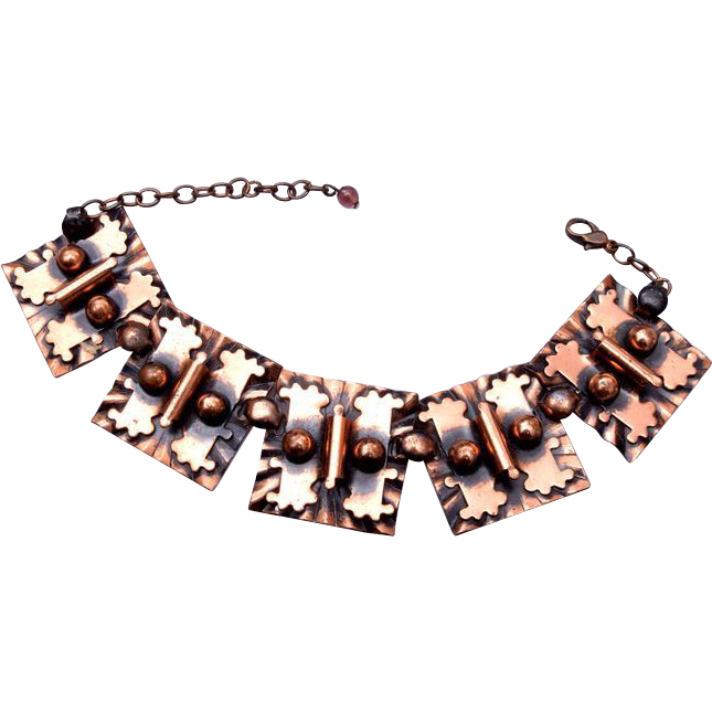 "Copper Bracelet 7-1/2"" to 9"""