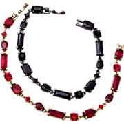 Liz Claiborne Bracelet Pair - Red and Black