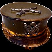 Marine Cap Locket Sweetheart Locket Brooch