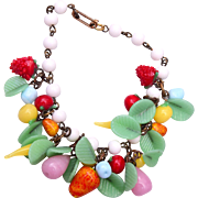 Beautiful Glass Fruit Bracelet