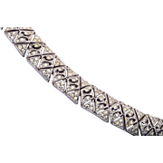 Pierced Metal Art Deco Bracelet
