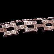 Sterling Incised Square Link Bracelet