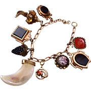 9 Gold Filled Watch Fob Charm Bracelet
