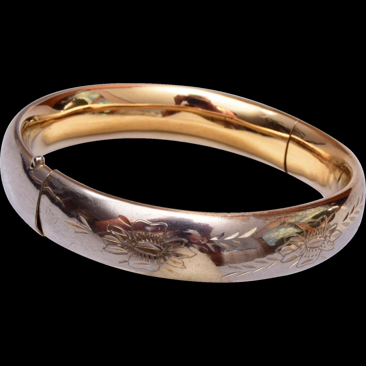 12kt Gold Filled Hinged Bangle Bracelet