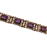 Purple Unfoiled Rhinestone Bracelet