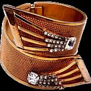Vargas Rhinestone Large Hinged BiPass Bracelet