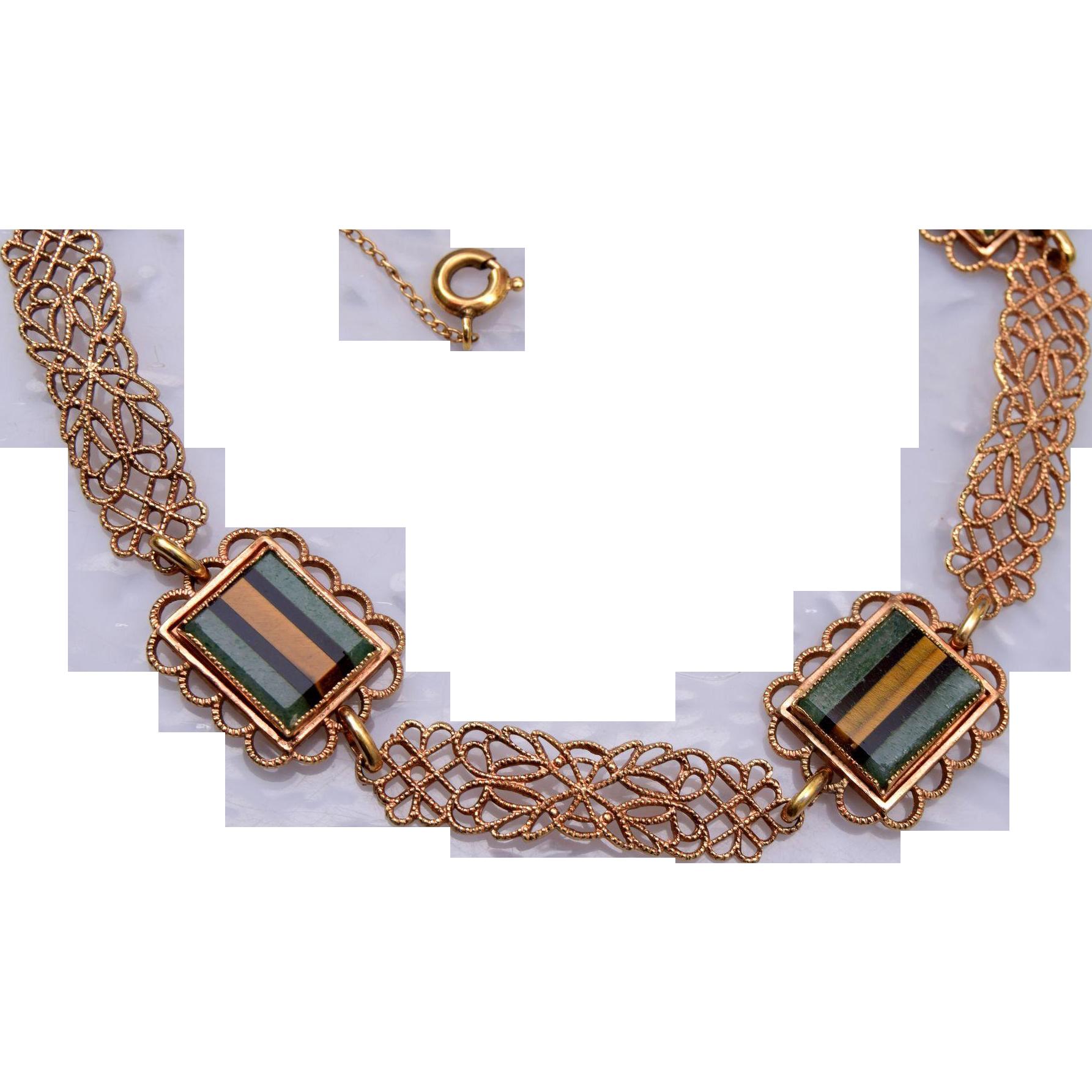 AMCO 14kt gold filled Natural Stone Bracelet