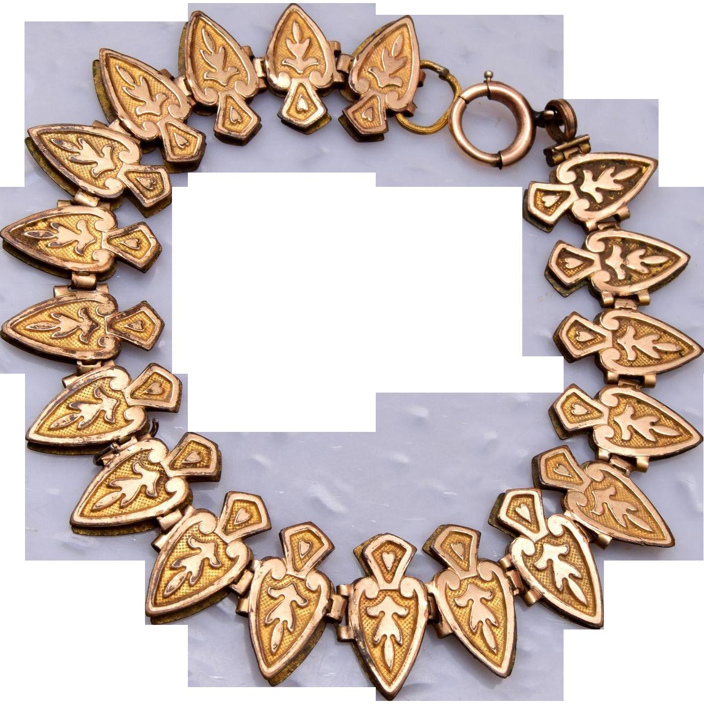 Gold Filled Book Chain Bracelet