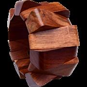 Geometric Stretch Wooden Bracelet