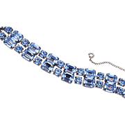 Beautiful Blue Rhinestone Bracelet
