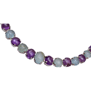 Sterling Amethyst and Natural Stone Bracelet