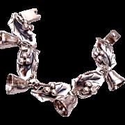 Damaso Gallegos Sterling Bell Christmas Bracelet