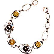 Vermeil Sterling and Topaz Crystal Bracelet