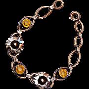Vermeil Sterling and Topaz Crystal Bracelet