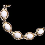 Mazer Bros. White Scarab Bracelet