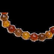 Topaz Faceted Lucite Bracelet