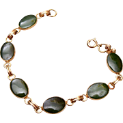 Gold Filled and Jade Bracelet