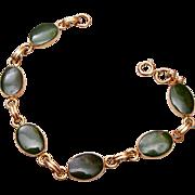 Gold Filled and Jade Bracelet