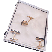 Emmons Jewelers 1950's Ambassador Bamboo Stick Cuff Links
