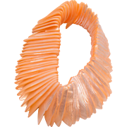 Coral Color Mother of Pearl Bracelet