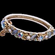 Florenza Japanned White Hinged Bracelet