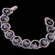 Vintage Typewriter Key Bracelet