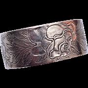 June Salisbury Pewter Cuff Bracelet