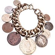 1950's Canadian Coin Charm Bracelet