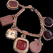 Watch Fob Gold Filled Bracelet