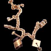 Gold filled Graduation Charm Bracelet