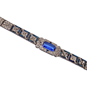 Pretium Art Deco Invisibly Set Stone Bracelet