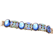 Blue Jelly and Green Givre Stone Bracelet