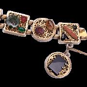 Kafin Gorgeous Natural Stone and Intaglio Bracelet