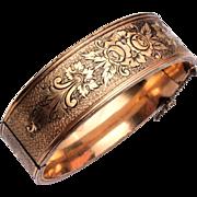 """Coro 3/4"""" Hinged Gold Filled Bangle Bracelet"""