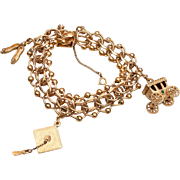 Fabulous Monet Charm Bracelet and Charms