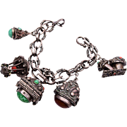 800 Silver Italy Charm Bracelet With Locket