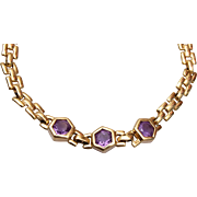 14kt and Amethyst Bracelet