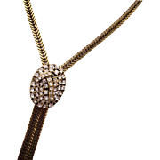 Selini Rhinestone Slide Necklace