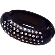 Weiss Black and Rhinestone Bracelet