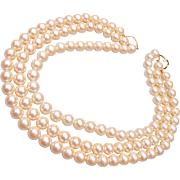 Barbara Bush 3-Strand Faux Pearls