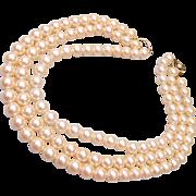 Barbara Bush 3-Strand Faux Pearls