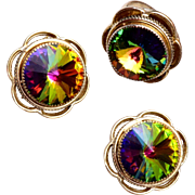 Whiting and Davis Watermelon Ring and Earring Set